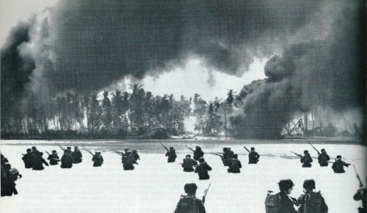 Tarawa the pork shaped island cost the lives of 6400. Americans, Japanese & Koreans in 1943. 2