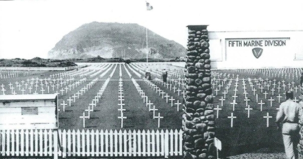 The war cemetery in Iwo Jima. 6.821 Americans and around 22.000 Japanese died 2