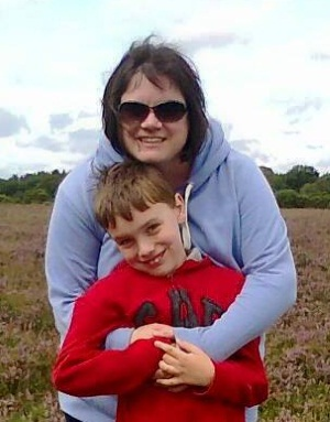 Sue Tilt's sister and nephew (Gill and Theo Powell)
