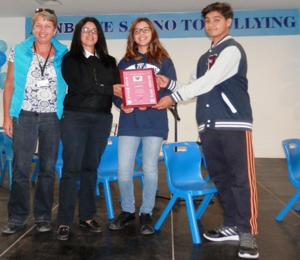 Tulips/Help Those With Cancer Association were invited to present a special certificate to Necat British College during their assembly on Friday 18th November 2016