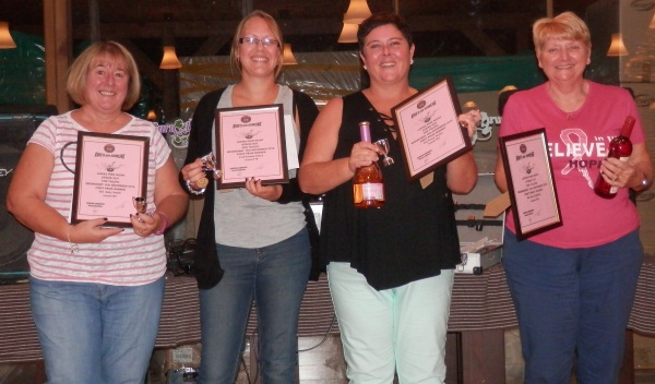 1st = Sally Smith, 2nd = Lianne Avery, 3rd = Tracy Foster, 4th = Ann Griffiths