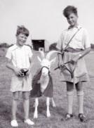 tony-with-major-dicky-randells-son-and-taffy-the-goat-at-llanion-barracks-pembroke-dock-1955