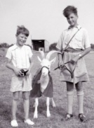 tony-with-major-dicky-randells-son-and-taffy-the-goat-at-llanion-barracks-pembroke-dock-1955