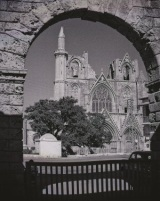 church-through-archway